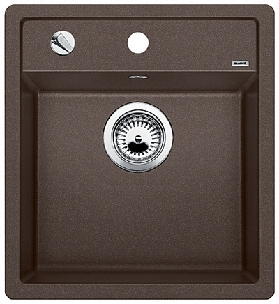 DALAGO 45-F kávová, kuchyňský dřez s excentrem SILGRANIT® 517171
