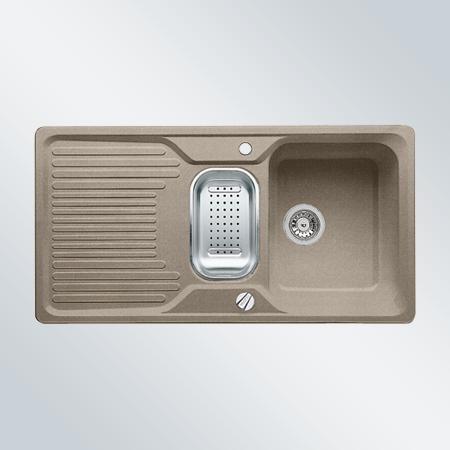 CLASSIC 6 S tartufo, kuchyňský dřez s excentrem a příslušenstvím SILGRANIT® 517307