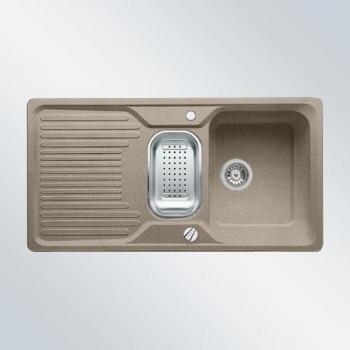 Blanco CLASSIC 6 S tartufo, kuchyňský dřez s excentrem a příslušenstvím SILGRANIT® 517307