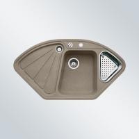 DELTA tartufo, kuchyňský dřez s excentrem a příslušenstvím SILGRANIT® 517325