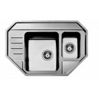 f68d73306097 Nerezový rohový dřez Materiál nerezová ocel CrNI 18 10 Povrchová úprava  leštěná ocel Pro rohovou skříňku od 900 x 900 mm nebo pro skříňku od 600 mm  Rozměr ...