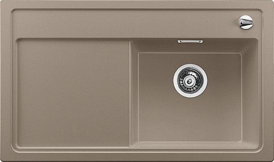 ZENAR 45 S tartufo, kuchyňský dřez s excentrem a příslušenstvím, pravý SILGRANIT (519259)