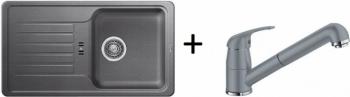Blanco SET 09 - B ( 518184 FAVOS Mini + 517733 DARAS-S ) aluminium