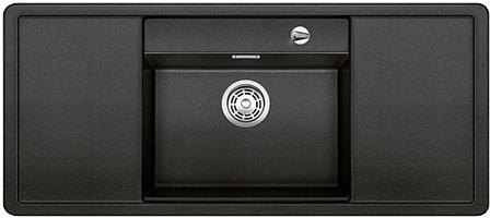 ALAROS 6 S-F antracit, kuchyňský dřez s excentrem a příslušenstvím, SILGRANIT® 517682