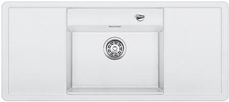 ALAROS 6 S-F bílá, kuchyňský dřez s excentrem a příslušenstvím, SILGRANIT® 517684
