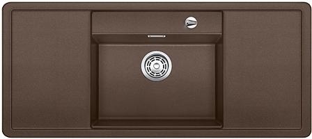 ALAROS 6 S-F kávová, kuchyňský dřez s excentrem a příslušenstvím, SILGRANIT® 517688