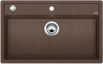 DALAGO 8-F kávová, kuchyňský dřez s excentrem SILGRANIT® 516645