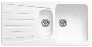 NOVA 6 S bílý SILGRANIT® PuraDur® II bez excentru 510488