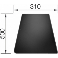 Blanco Krájecí deska sklo černá pro ALAROS 500x310 - 224525