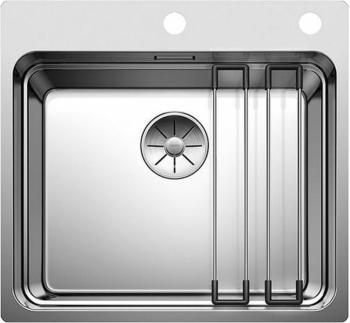 Blanco ETAGON 500-IF/A InFino nerez hedvábný lesk s excentrem a pojezdy - 521748
