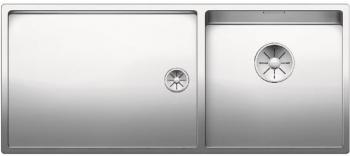 Blanco CLARON 400/550 T-IF InFino Nerez hedvábný lesk dřez vpravo bez táhla - 521600