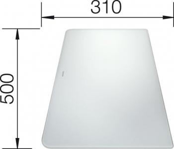 Blanco Krájecí deska sklo bílá pro ALAROS 500x310 - 224510