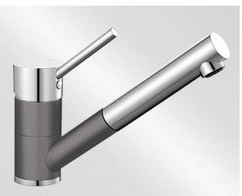 Blanco ANTAS-S ND Silgranit-look dvoubarevná šedá skála/chrom beztlaková - 518795