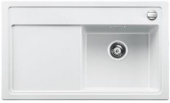 Blanco ZENAR 45 S-F Silgranit bílá dřez vpravo s excentrem, příslušen krájecí deska dřevo - 519185