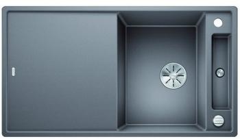 Blanco AXIA III 5 S-F InFino silgranit aluminium dřez vpravo s excentrem přísluš. sklo - 523233
