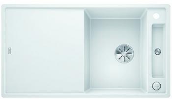 Blanco AXIA III 5 S-F InFino silgranit bílá dřez vpravo s excentrem přísluš. sklo - 523234
