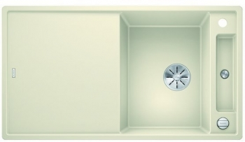 Blanco AXIA III 5 S-F InFino silgranit jasmín dřez vpravo s excentrem přísluš. sklo - 523235