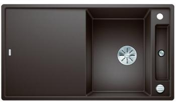 Blanco AXIA III 5 S-F InFino silgranit káva dřez vpravo s excentrem přísluš. sklo - 523236