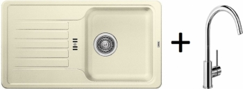 Blanco SET 09 - C ( 521405 Favos Mini jasmín + 517742 MIDA chrom )