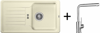 Blanco SET 09 - D ( 521405 Favos Mini jasmín + 519414 MILA chrom )