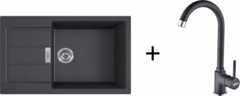 Franke SET T90 - S2D 611-78 XL černý + FP 9000 onyx