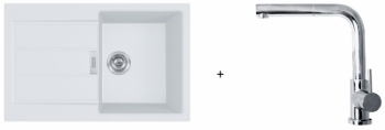 Franke SET T82 - S2D 611-78 bílá + FN 0147.031