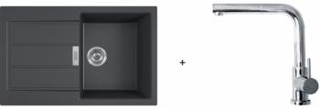 Franke SET T82 - S2D 611-78 černá + FN 0147.031