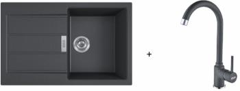 Franke SET T84 - S2D 611-78 černá + FP 9000 onyx
