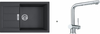 Franke SET T87 - S2D 611-78 XL černá + SAMOA
