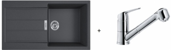 Franke SET T93 - S2D 611-100 černá + FN 0642.031