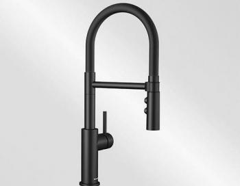 Blanco CATRIS-S Flexo speciální barva černá matt s černou sprchovou hadicí HD - 525793