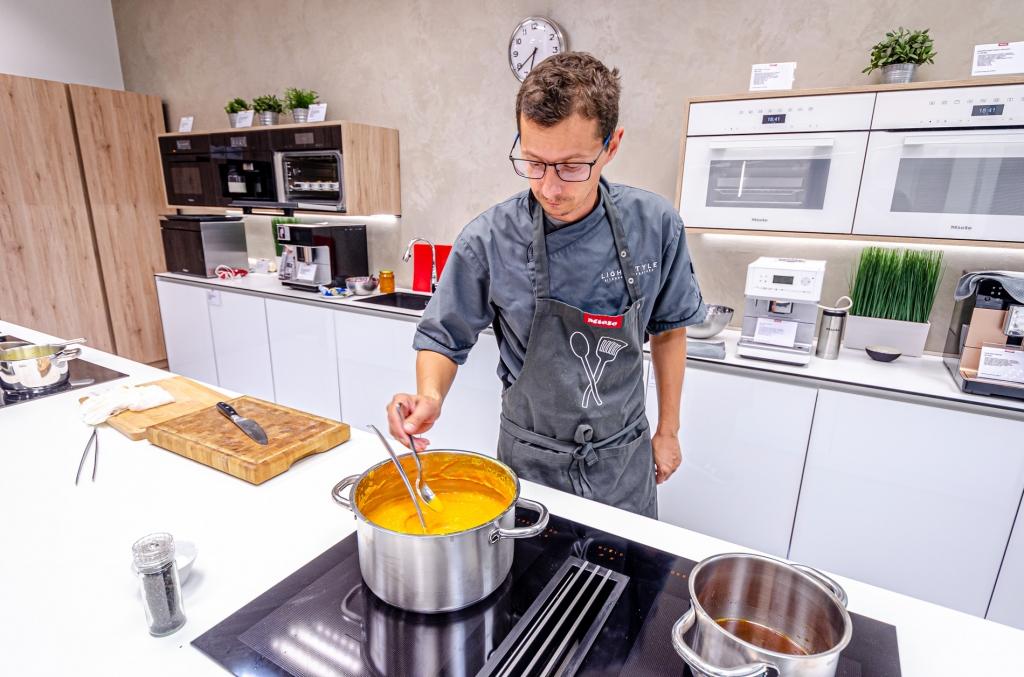 Předváděcí vaření Miele Center České Budějovice 31.10.2019