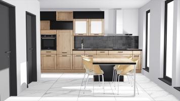 Dřevěná rustikální kuchyň