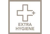 Funkce Extra hygieny pro 99,99% výsledky bez bakterií