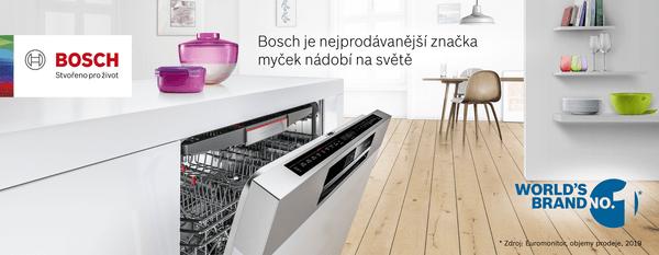 Bosch je nejprodávanější značka myček nádobí na světě*
