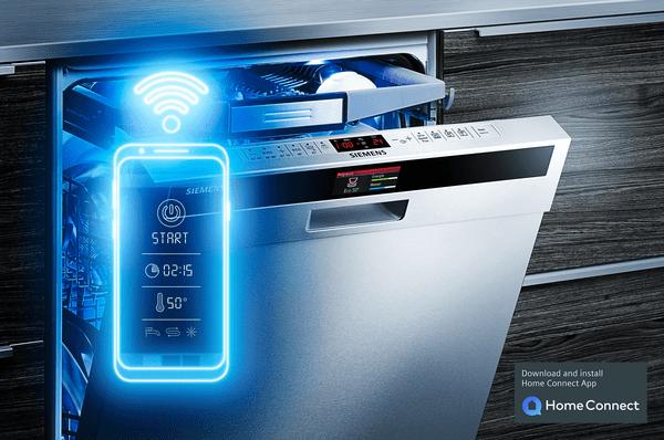Easy start: vyberte jednoduše vhodný mycí program pomocí aplikace Home Connect.