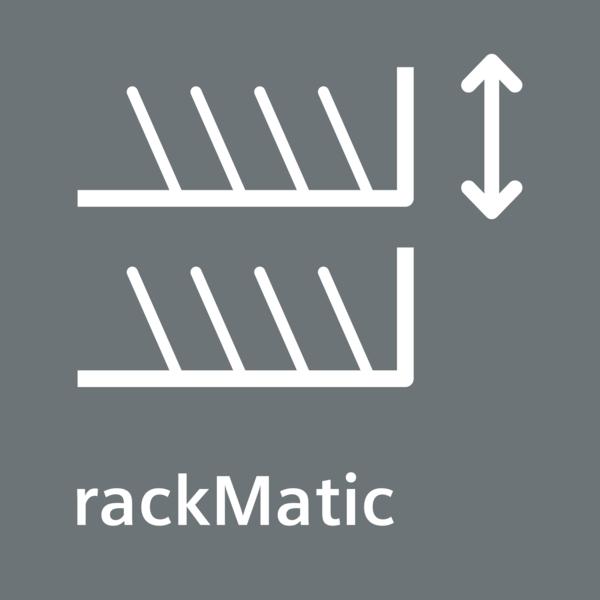 V troch úrovniach výškovo nastaviteľný horný kôš - rackMatic.