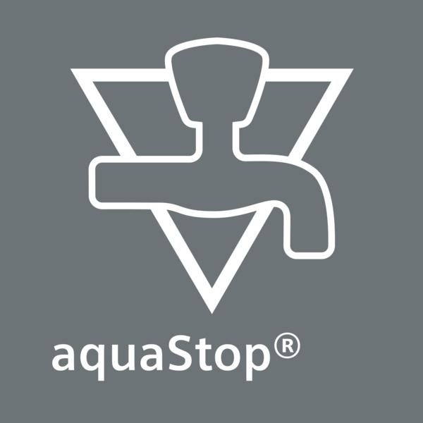 Doživotní záruka proti škodám způsobených vodou: aquaStop®.