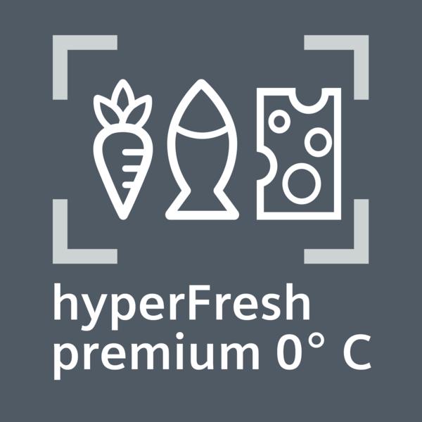 Potraviny vydržia až 3x dlhšie čerstvé: hyperFresh premium 0 ° C.