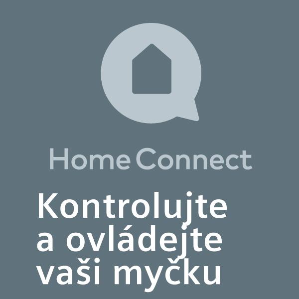 Kontrolujte a ovládejte vaši myčku nádobí odkudkoliv - pomocí aplikace Home Connect (k dispozici pro iOS a Android).