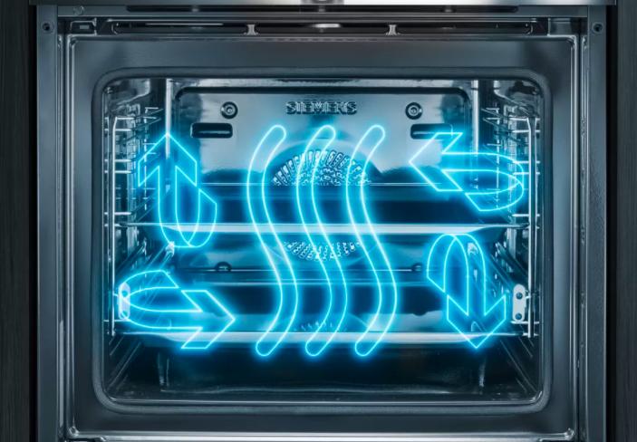 4D horký vzduch: nejlepší výsledky pečení bez ohledu na zvolenou úroveň zasunutí plechu.