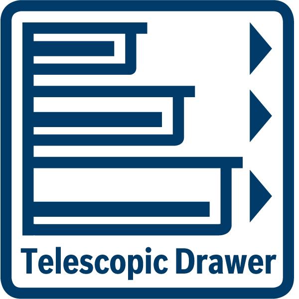 Plný teleskopický výsuv