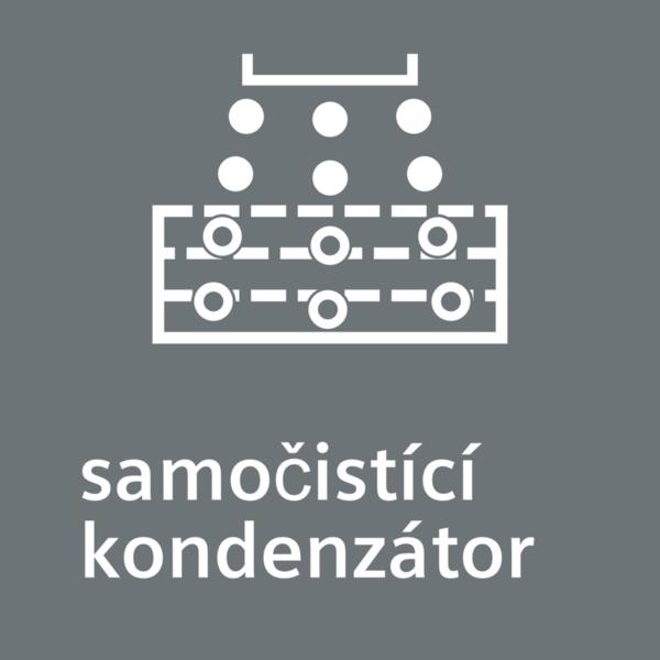 Samočistiaci kondenzátor SelfCleaning condenser - čistí sa úplne automaticky.