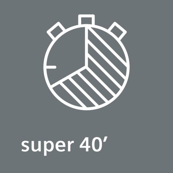 Rýchle a starostlivé sušenie menších náplní - program super 40