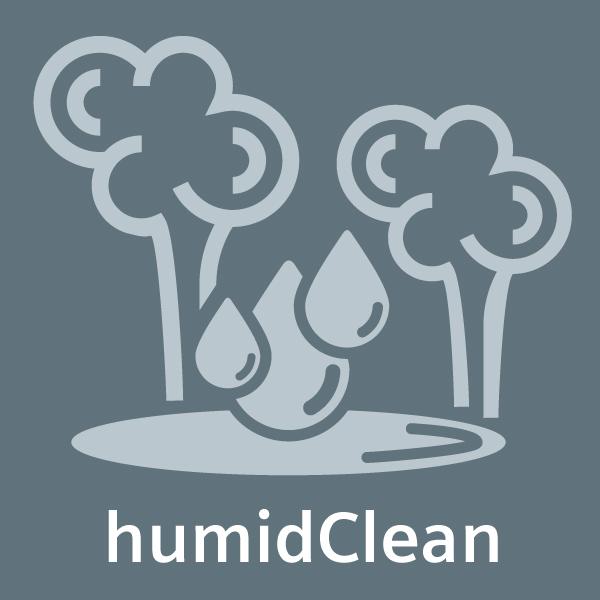Díky odpaření mýdlové vody odstraníte velmi rychle a pohodlně nečistoty z vaší trouby - humidClean.