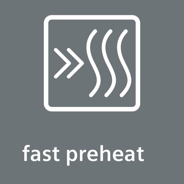 Rychloohřev: zajistí rychlejší dosažení požadované teploty.