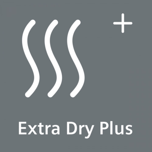 Pro zvlášť suché nádobí: extra sušení. ExtraDryPlus