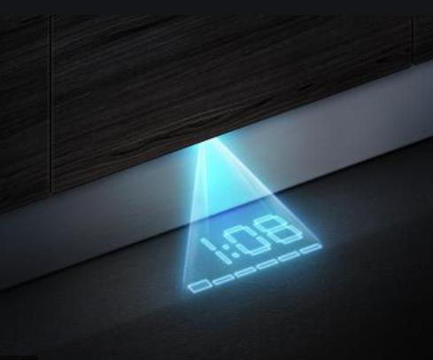 Zobrazuje všetky informácie o programe na podlahu: timeLight.