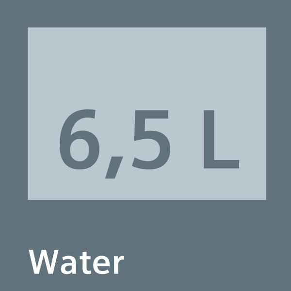 6,5 litrů