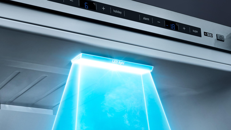 LED osvetlenie chladničky.